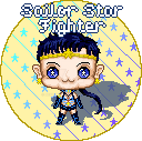 Sailor Star Fighter Hoshibebi Button by NekoAthena