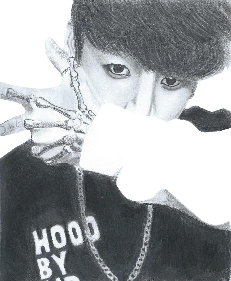 Jungkook Bts Drawings: Jungkook By Bluefoxangel143 On DeviantArt