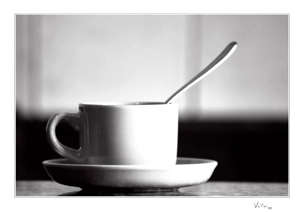 A cup of coffee - BW by ValloDan