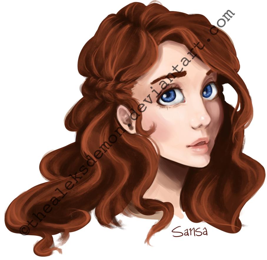 Sansa Stark Headshot by TheAleksDemon