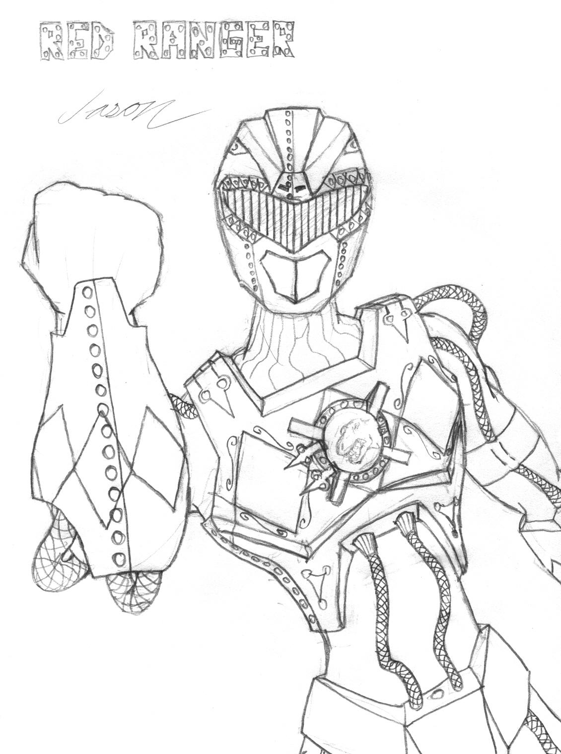 Steampunk Red Ranger - Sketch by Promus-Kaa