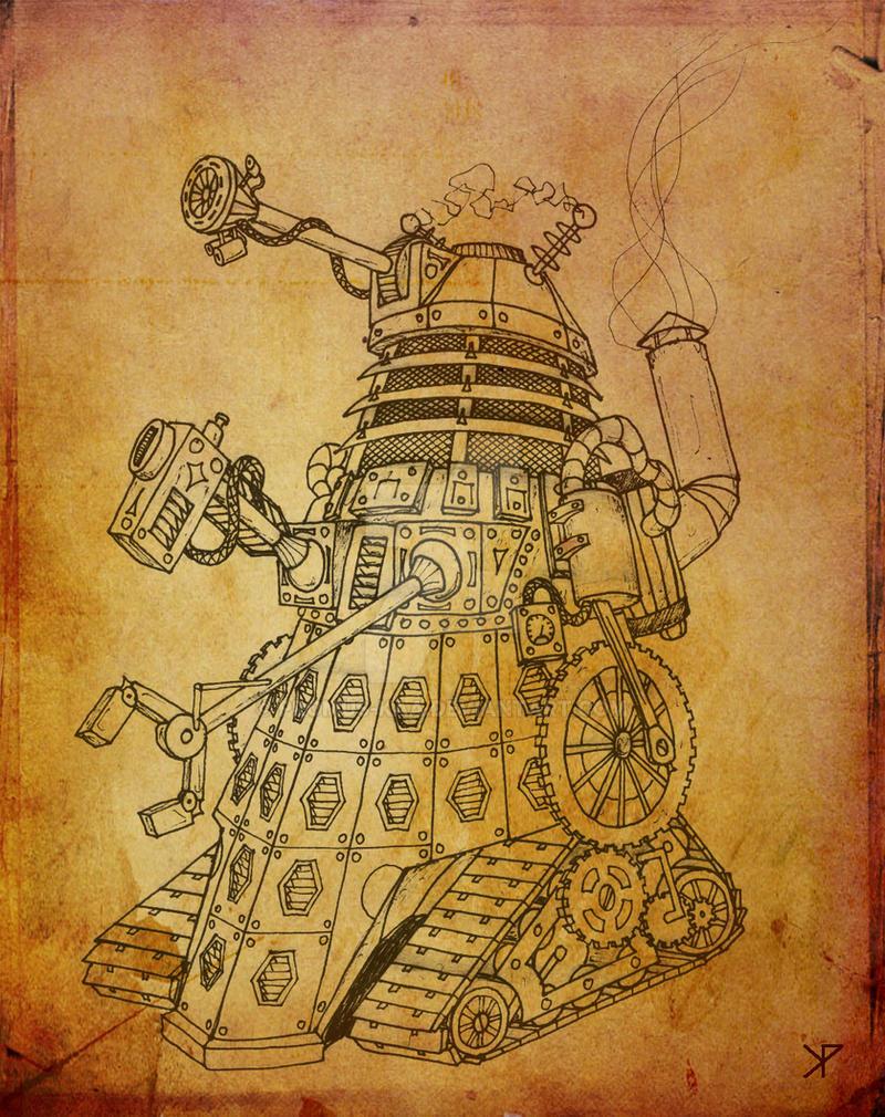 Steampunk Dalek by Promus-Kaa