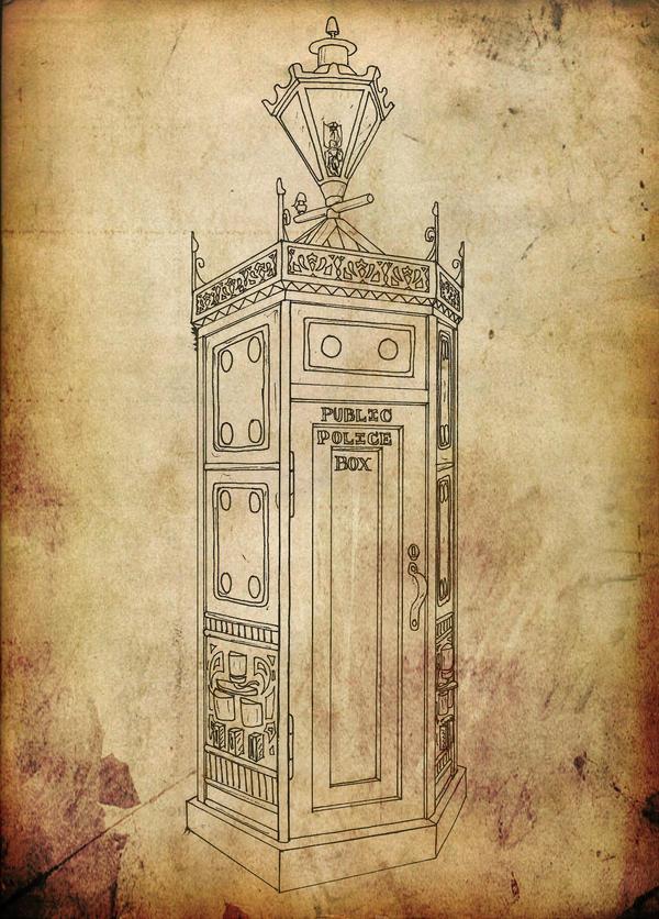Steampunk TARDIS by Promus-Kaa