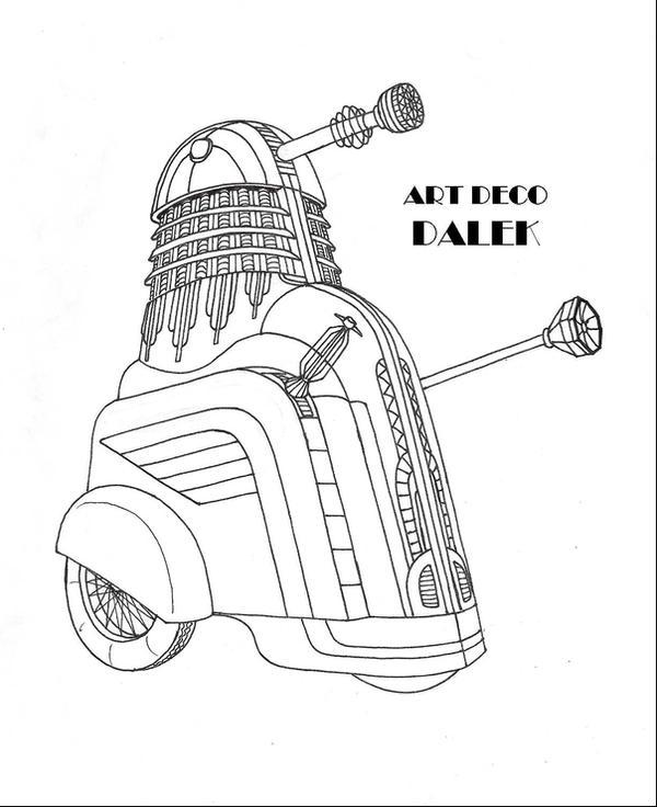 Art Deco Dalek by Promus-Kaa