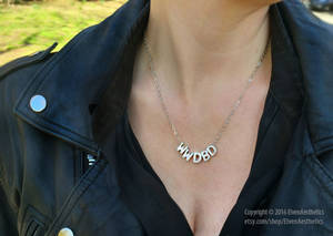 What Would David Bowie Do Silver Necklace