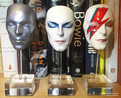 The faces of David Bowie