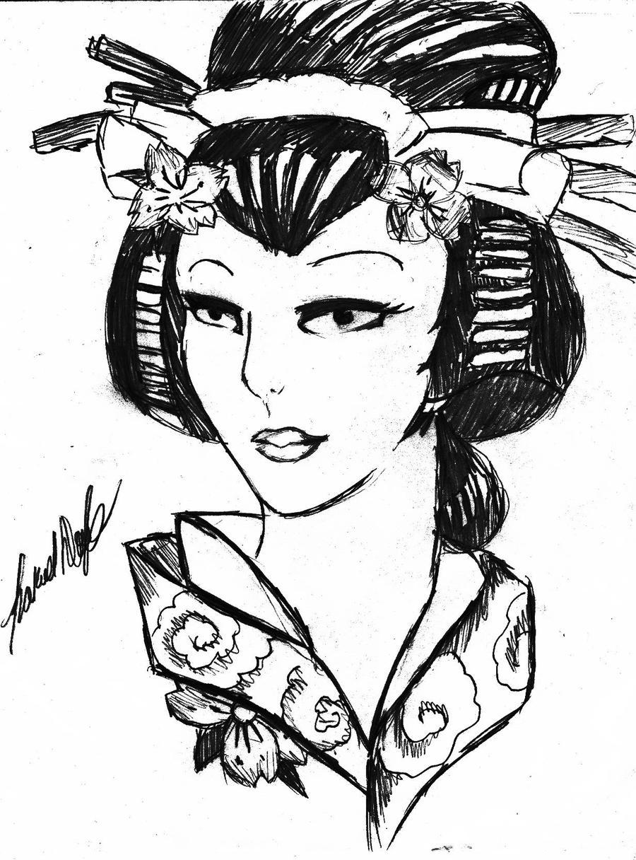 Uncategorized Geisha Girl Drawing geisha girl by sakekun1995 on deviantart sakekun1995