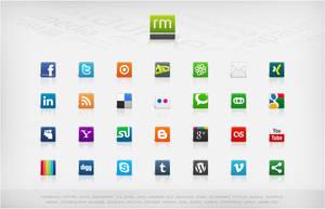 Social Media Icons - Volume 3 by basstar