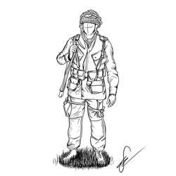 WW2 US Airborne Sketch