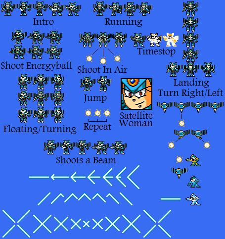 SatelliteWoman Sprite Sheet by hfbn2
