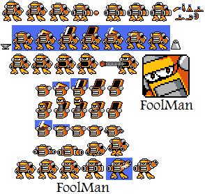 FoolMan Sprite Sheet by hfbn2