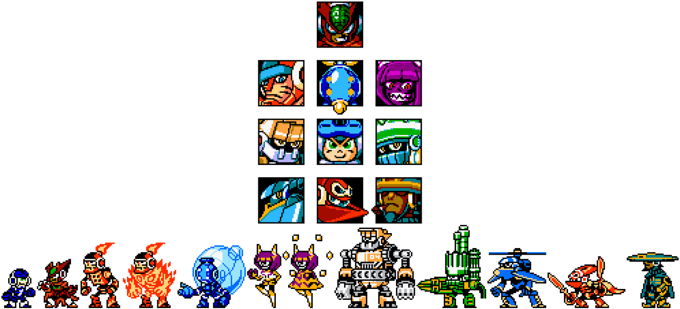Mighty No. 9 Retro Sprites by hfbn2