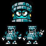 Renga (Brick?) Man 8-Bit Sprite Art