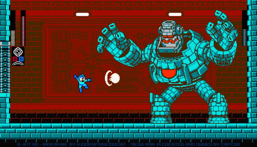 Block Golem Battle - 8-Bit