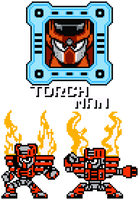 Torch Man - 8-Bit by hfbn2