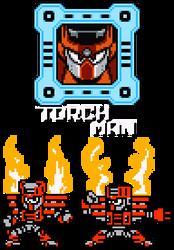 Torch Man - 8-Bit by hfbn2