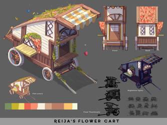SA   Reija's Flower Cart by Artistic-Pineapple