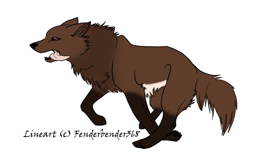 Brown Wolf Anime