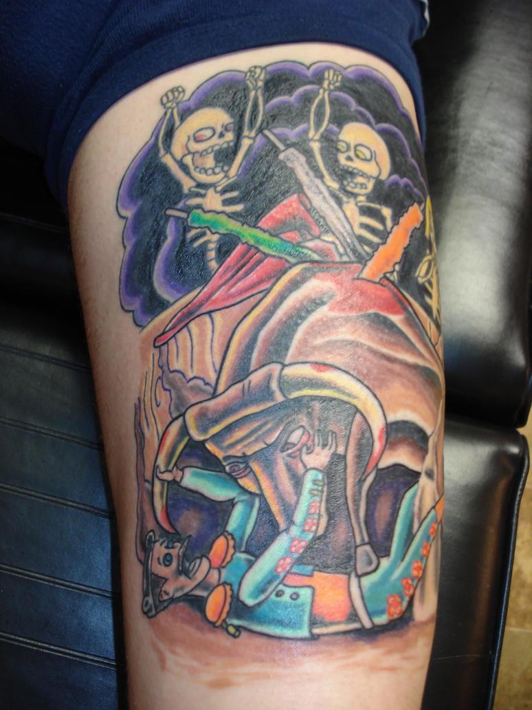Bull fighting tattoo by charlesbronson777 on deviantart for Traditional bull tattoo