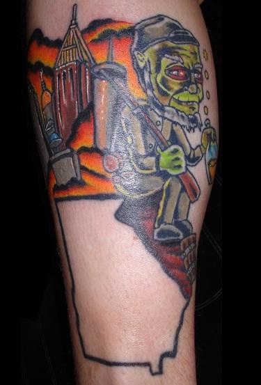 Georgia tattoo by charlesbronson777 on deviantart for Tattoo shops in georgia