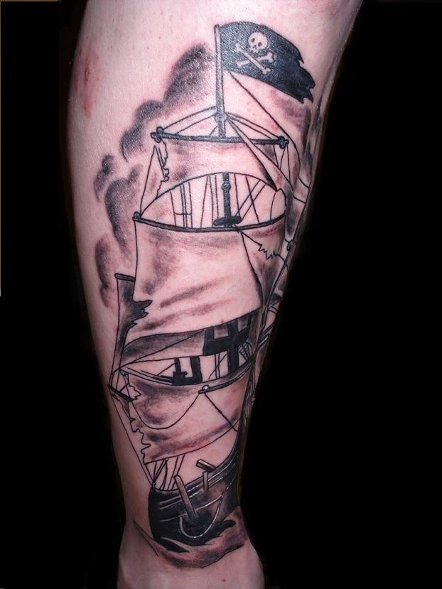 pirate ship tattoo 2