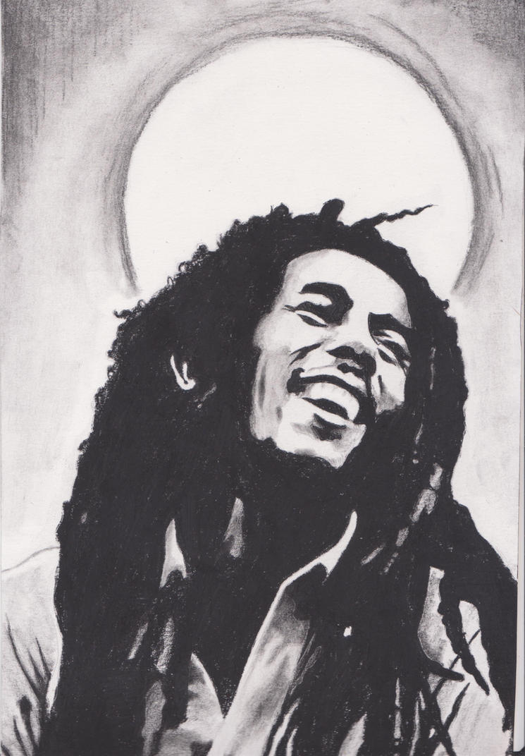bob marley portrait by...