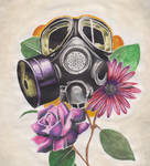 GAS MASK W SOME ROSES