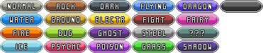 Pokemon Types - Icons