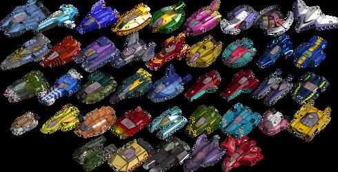 All machines from F-Zero GX (5.9 MB)