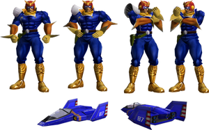 Captain Falcon rendered from F-Zero GX