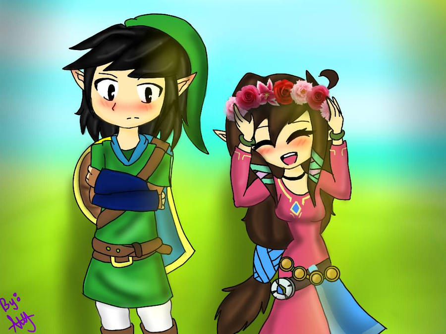 Amy y daniel (versin legend of zelda)   by latiagalletauwu