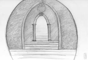 Sketch-a-Day 16-06-13: Stairway and Hall by ThroughMyThoughts