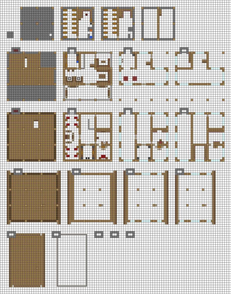 как построить такой же дом большой как в деревне в майнкрафте схема #5
