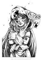 the little scarlet hood - Inked version by Karafactory