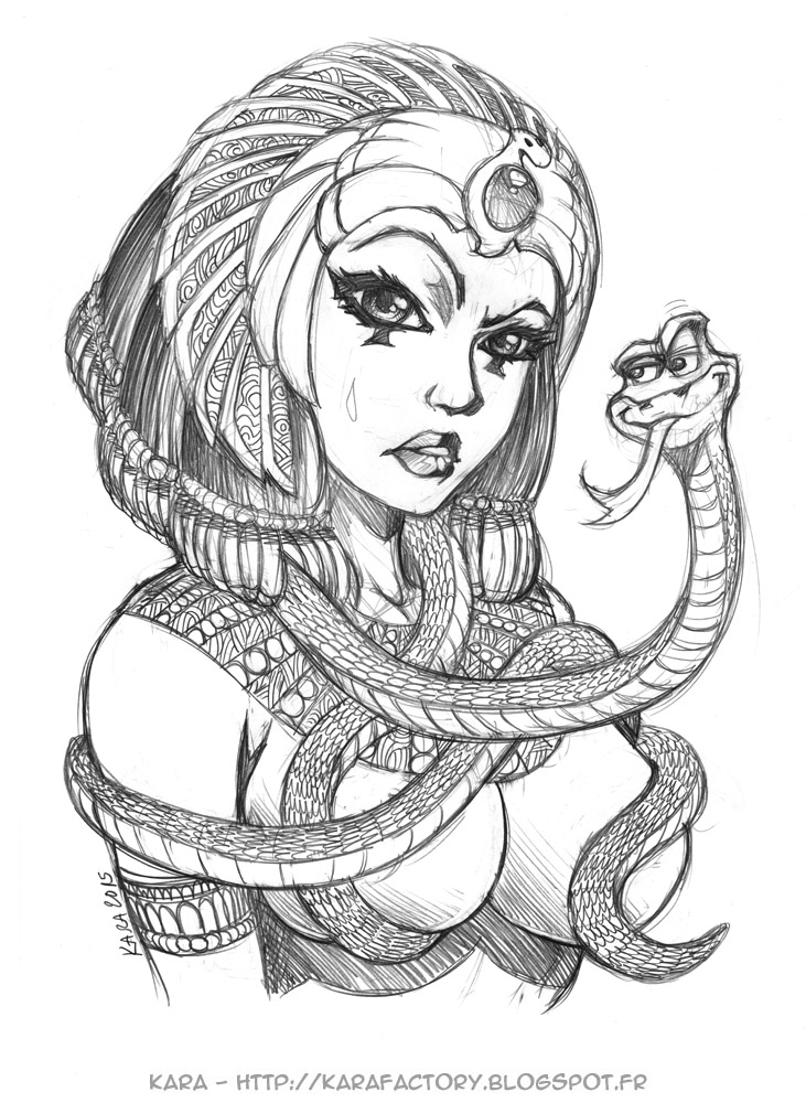 cleopatra coloring page - quick sketch cleopatra 40mn by karafactory on deviantart