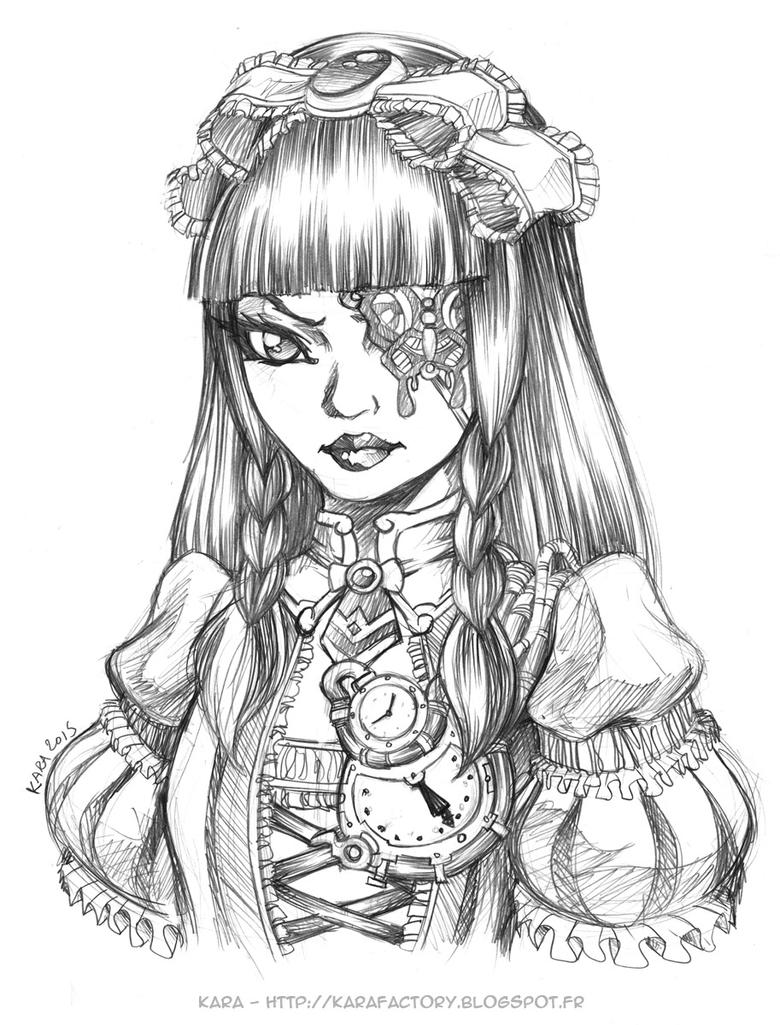 QUICK SKETCH GOTHIC LOLITA 40mn by Karafactory on