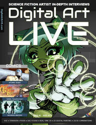 DIGITAL ART LIVE MAGAZINE - KARA IN FRONT COVER