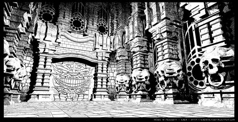 The Temple - 3D background test