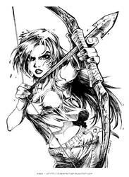 Lara Croft [Reboot] inked
