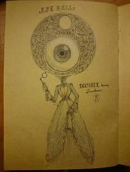 Inktober feat. Drawlloween #9 : EYEBALL by Myev07