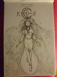 Inktober feat. Drawlloween #12 : MOON by Myev07