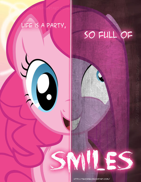Mlp two sides of pinkie pie by tehjadeh on deviantart