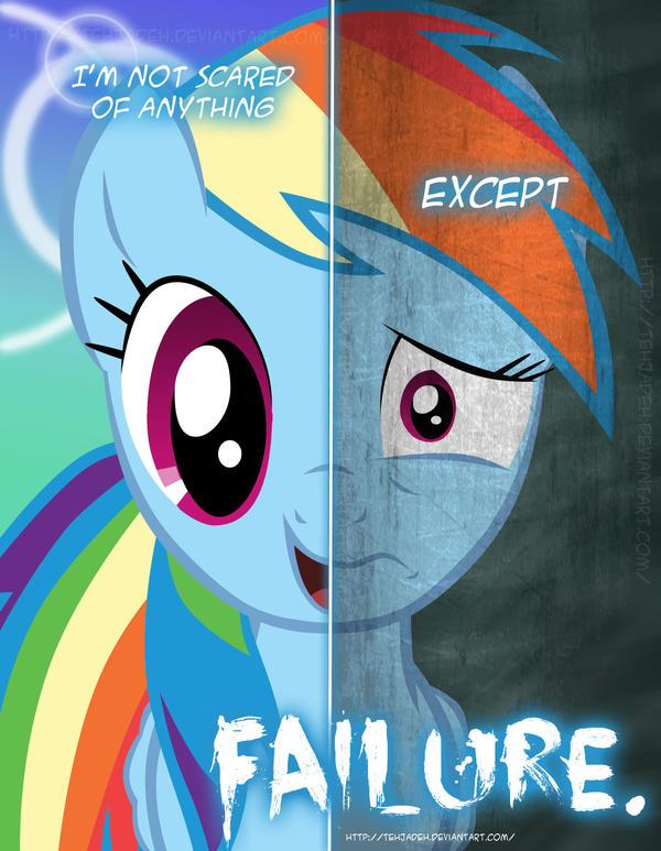 Mlp Two Sides Of Rainbow Dash By Tehjadeh On Deviantart