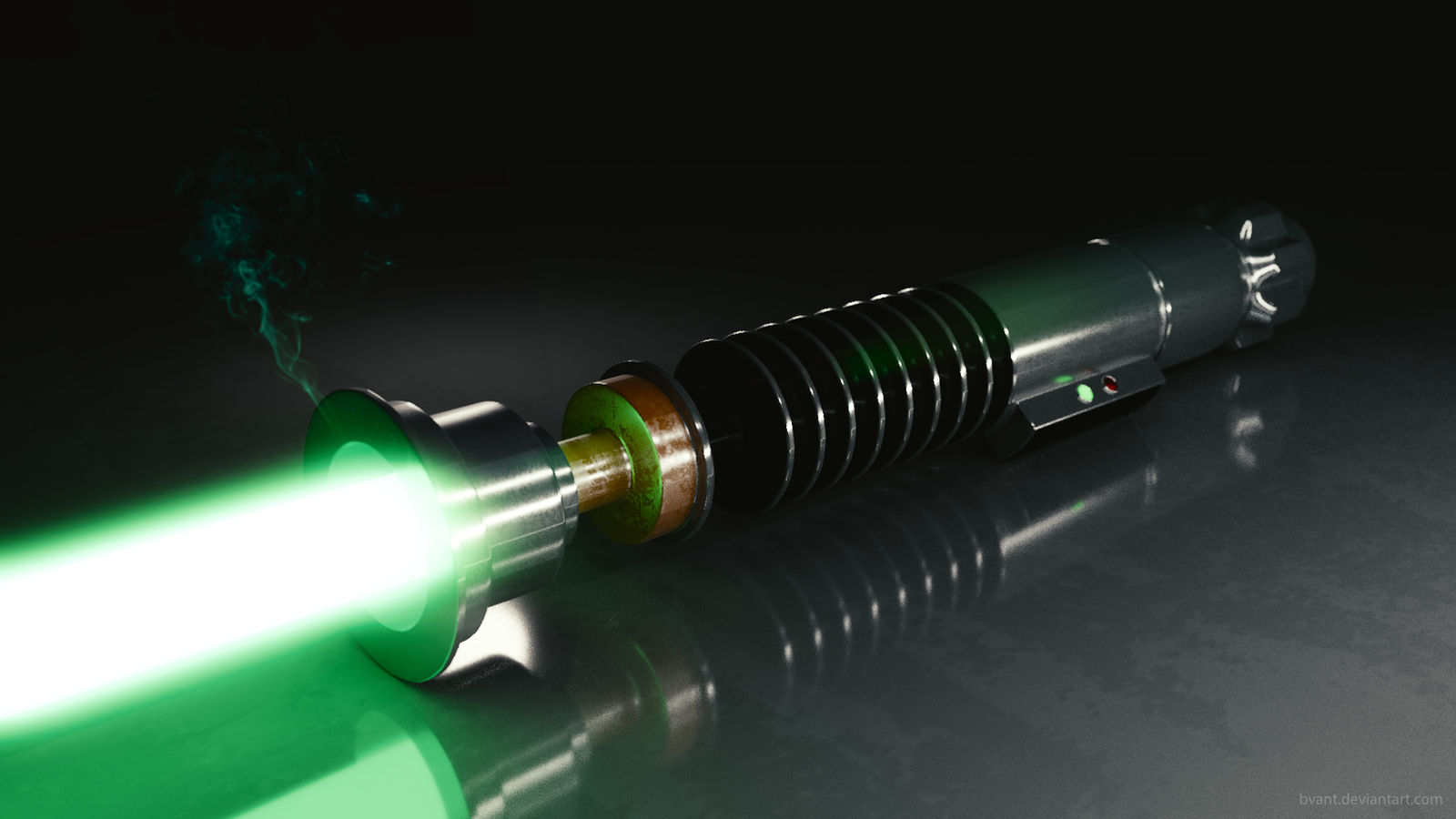green lightsaber by bvant d9cqnoa
