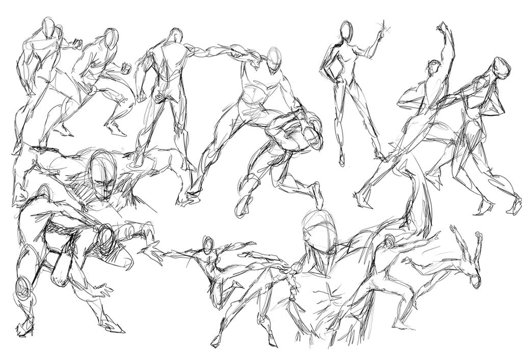 Gesture drawing by caananwhite on deviantart for Body movement drawing