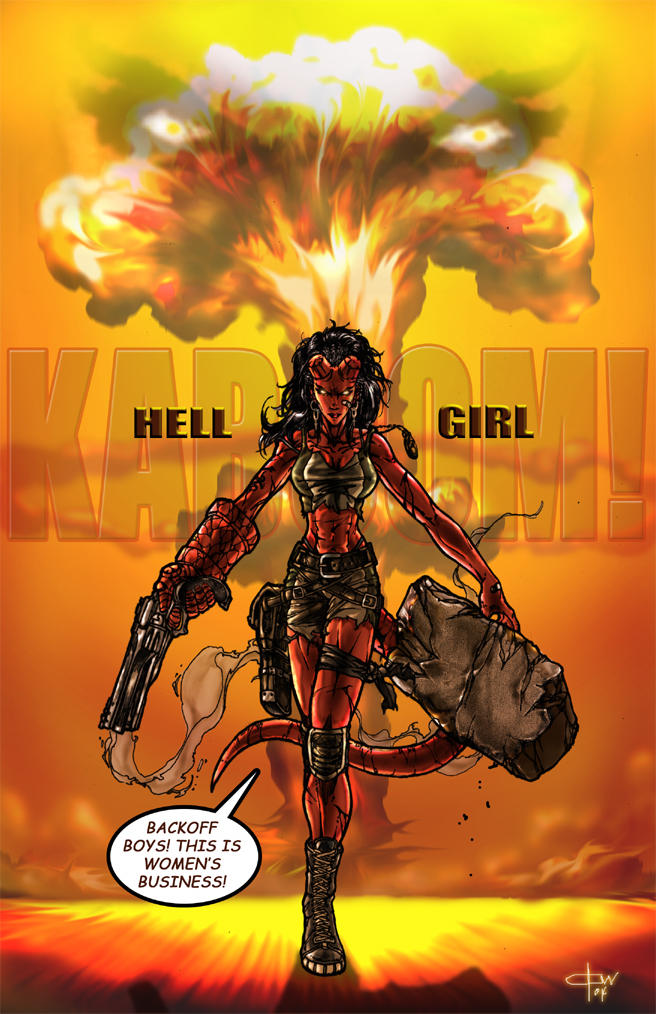 HellGirl in color by caananwhite