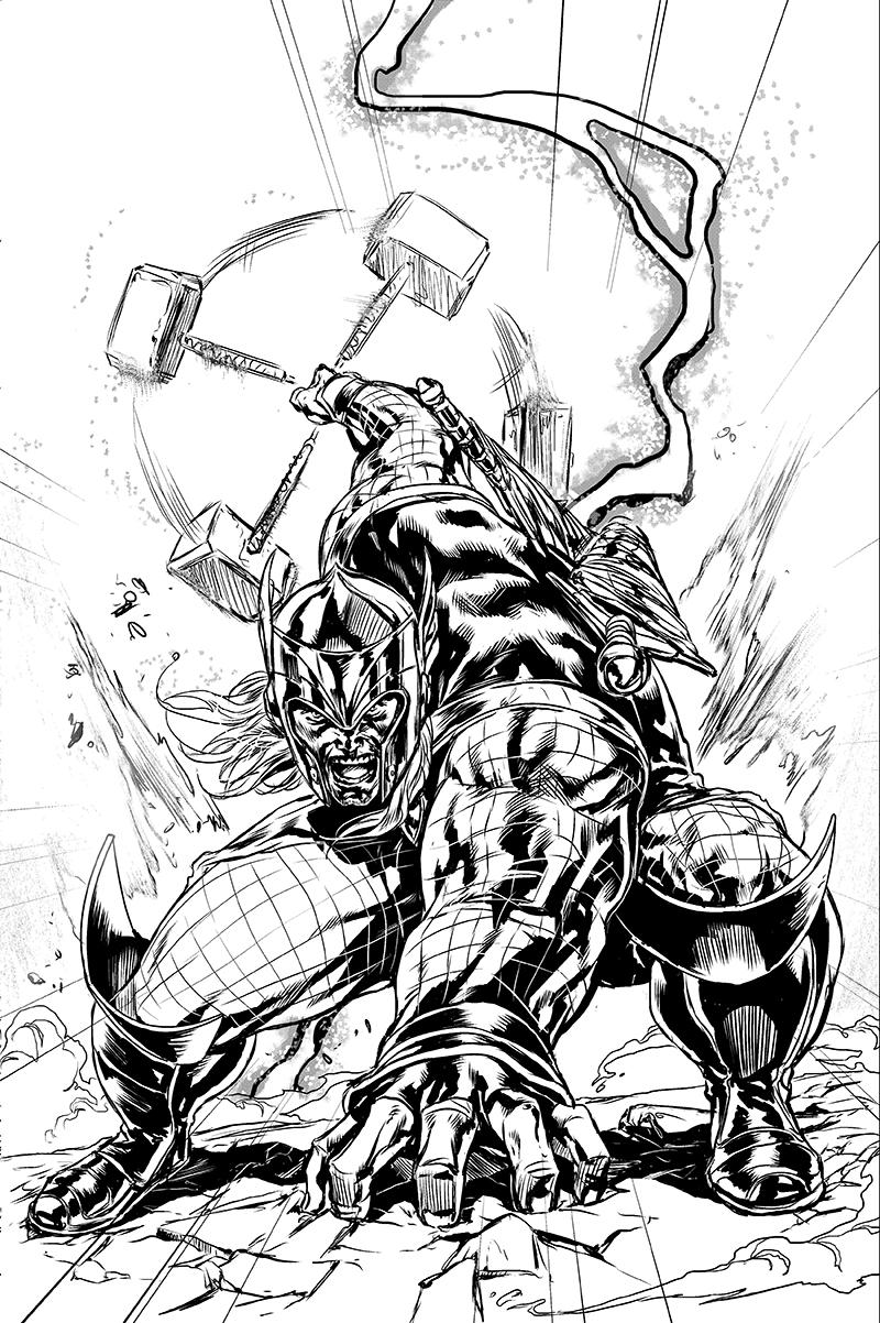 Line Art Marvel : Marvel now thor by caananwhite on deviantart