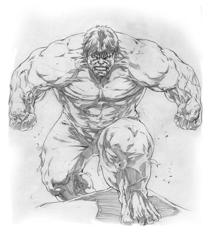 Hulk sketch dra... The Incredible Hulk Sketch