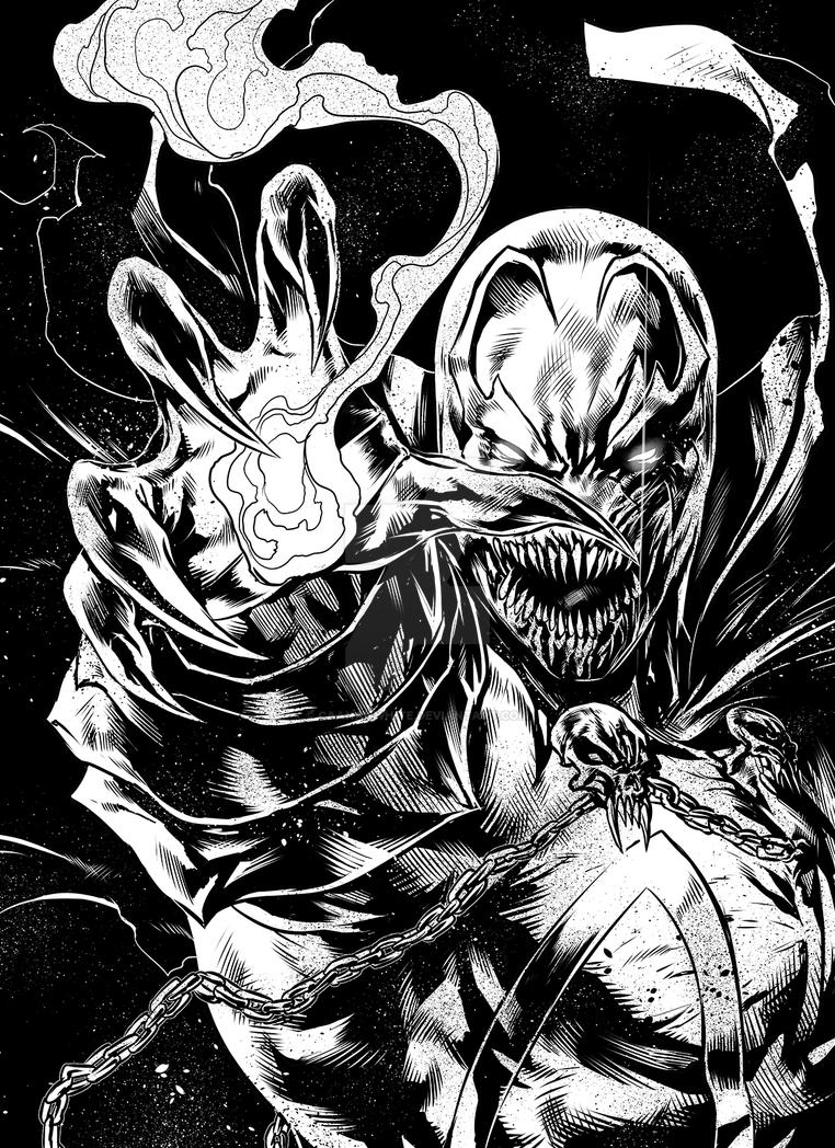 Spawn by caananwhite on deviantart for Spawn coloring pages