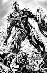 Iron Man over Cap